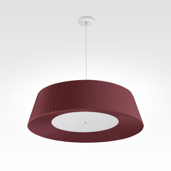 design pendant light living room led bordeaux red