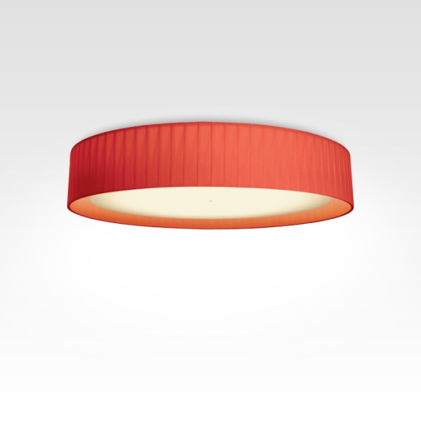 Design ceiling lamp pleated red