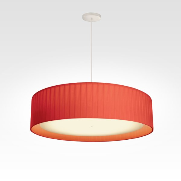 Lampes à Suspensions plissée led rouge