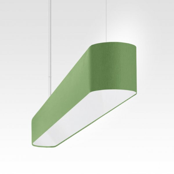 longue suspension, lampe à suspension table à manger vert