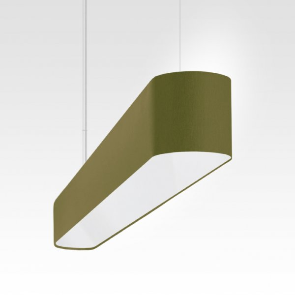 modern LED table pendant light olive-green