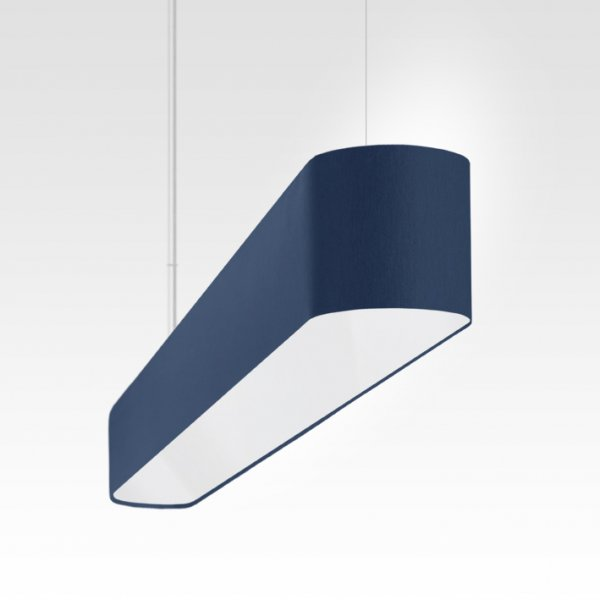 narrow long pendant light LED for dining room table blue