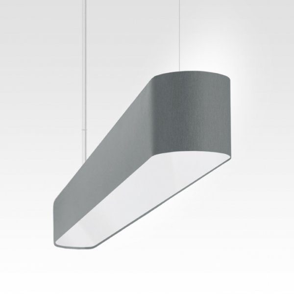 modern LED pendant light dining table and dining room gray