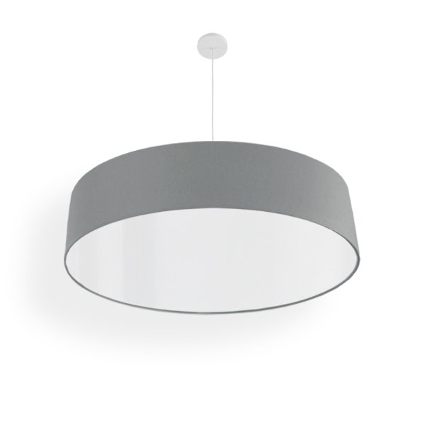 abat-jur suspension gris led