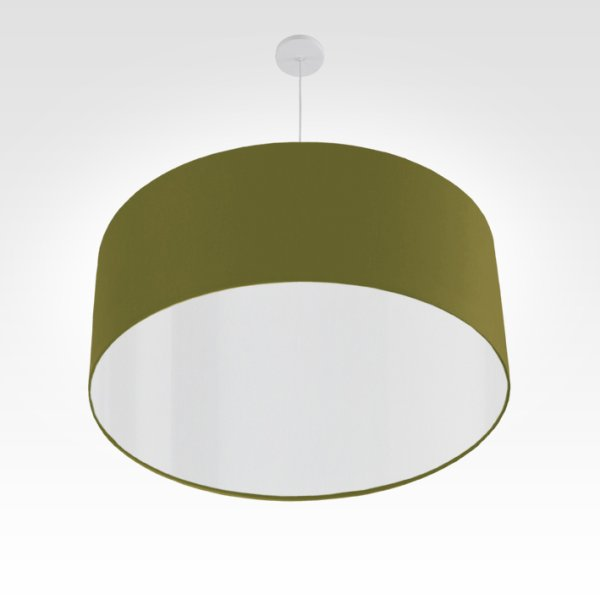 led lampshade olive-green