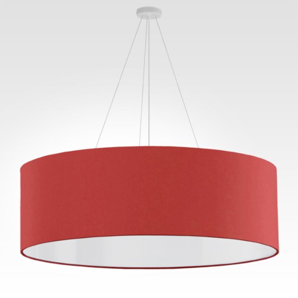 suspension luminaire red