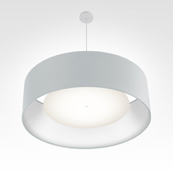lampe suspension argent bleu ø 80