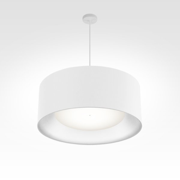 lamp shade silver-fabric ø 50
