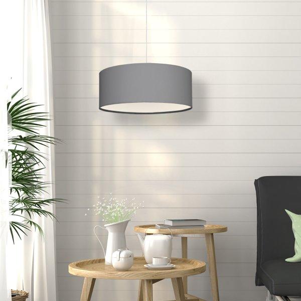 lampenschirm stoff stofflampenschirm grau. Black Bedroom Furniture Sets. Home Design Ideas