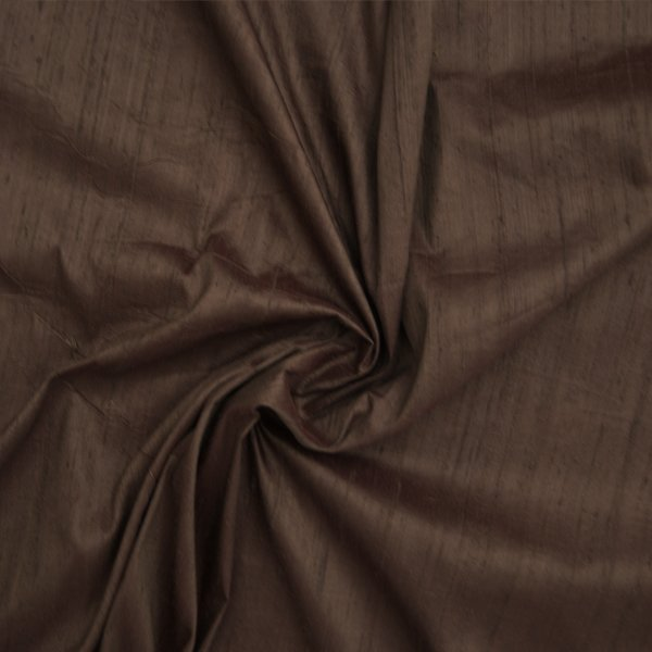 Dupioni silk brown