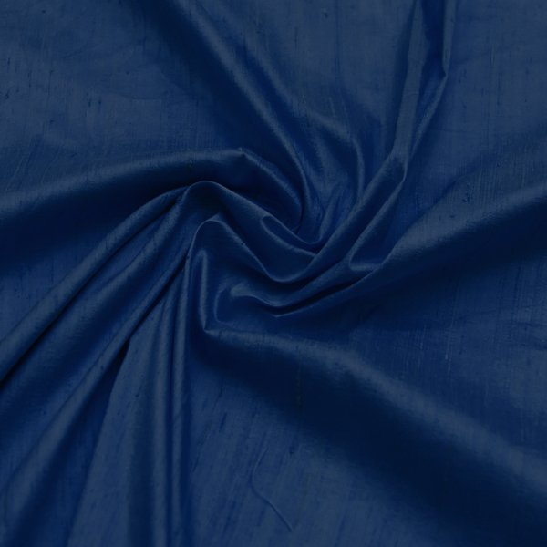 Dupioni silk dark blue