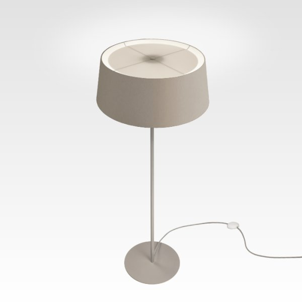 led modern floor lamp dimmable beige gray