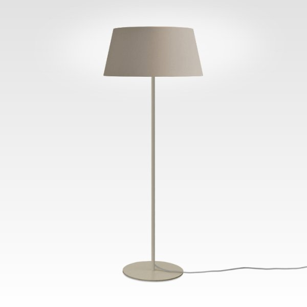 modern dimmable floor lamp beige gray