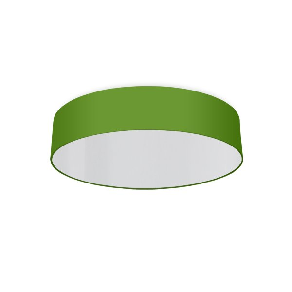 round ceiling light living room apple green