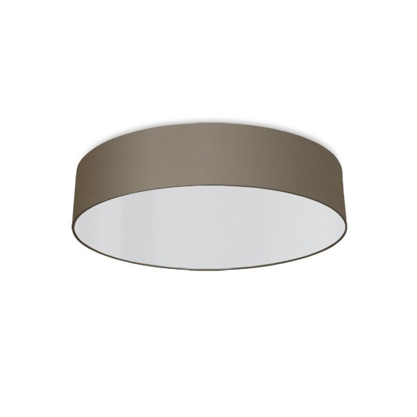 round ceiling light living room beige gray
