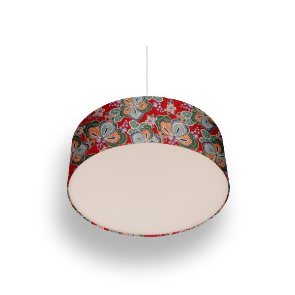 pendant lamp flowers red
