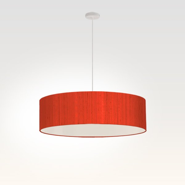 lampe suspendue plate led rouge