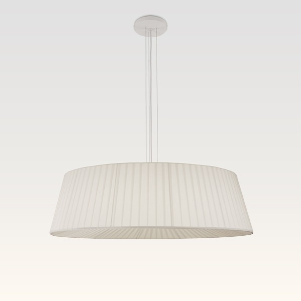 pendant lamp pleated white
