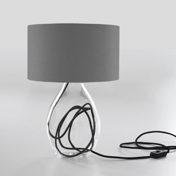 table lamp gray red