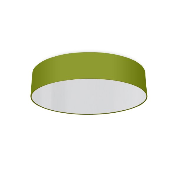 round ceiling light living room green