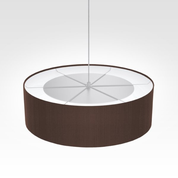 Suspension luminaire brun