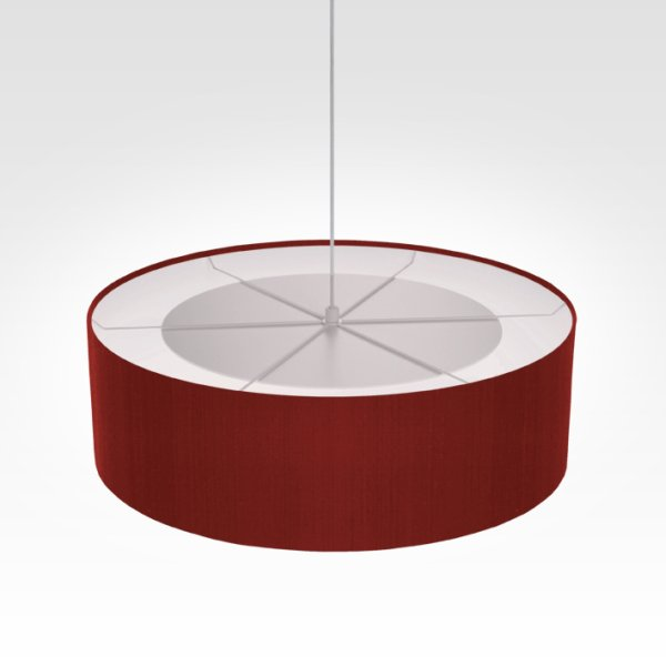 lamp shade dark red