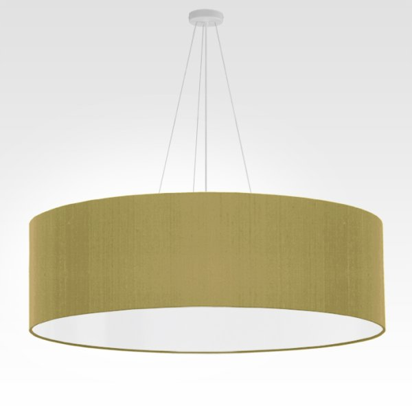 grande suspension vert olive brillant
