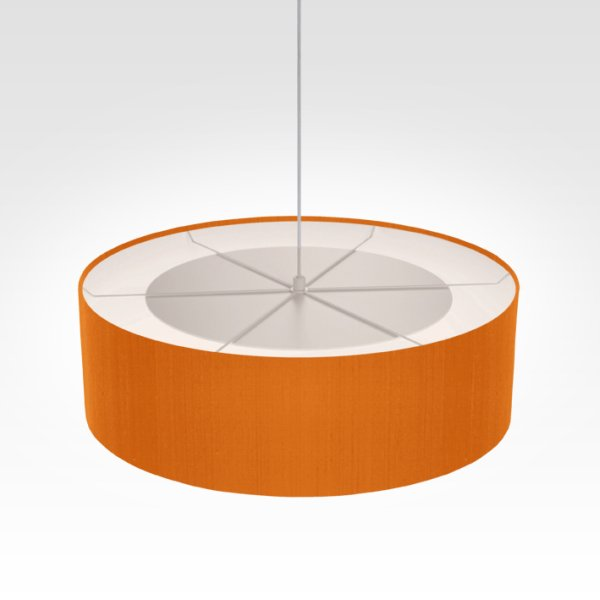 Suspension luminaire orange