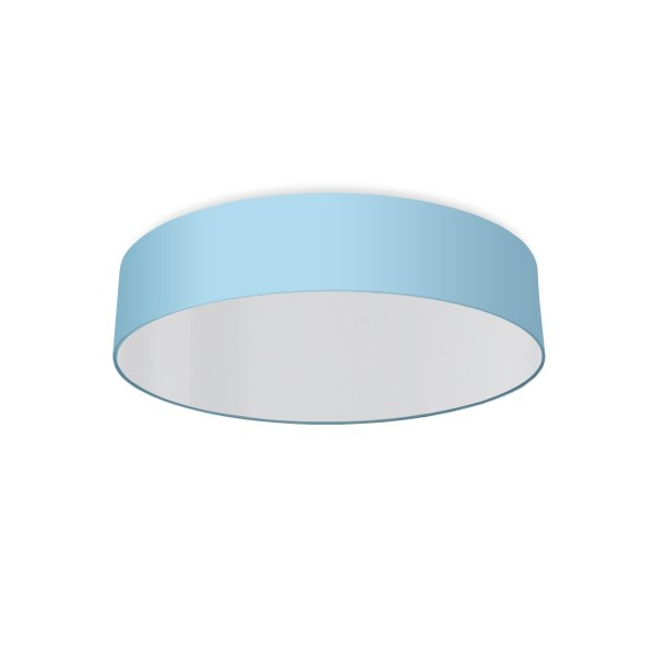 round ceiling light living room light blue