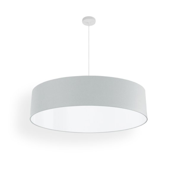 lampshade narrow led silver