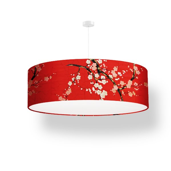 lamp shade cherry blossoms red