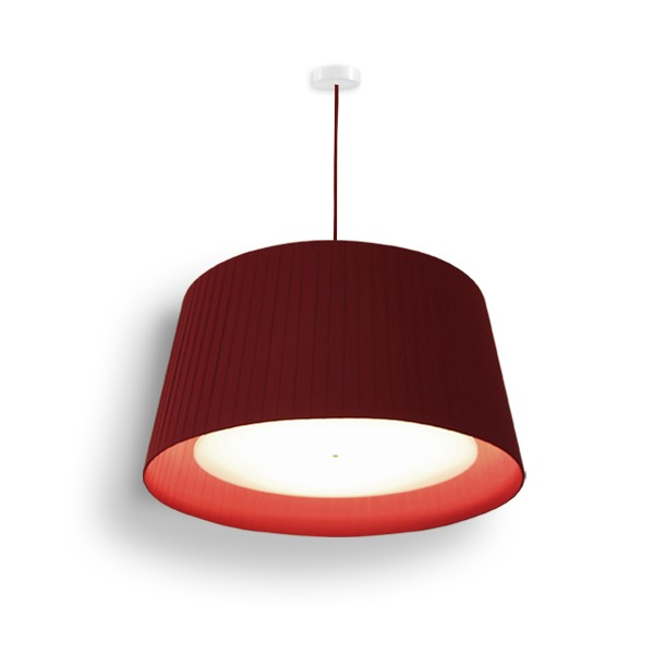 lampshade pleated red