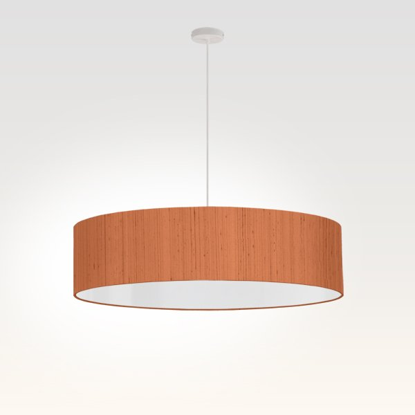 lampe à suspension moderne soie beige rouge