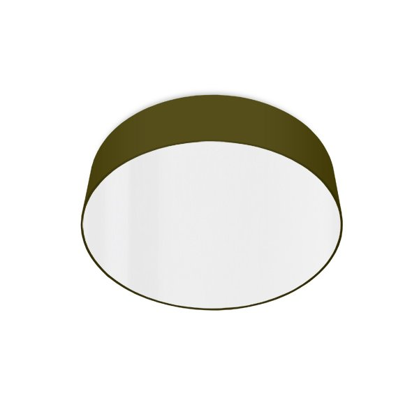 led ceiling luminaire olive-green