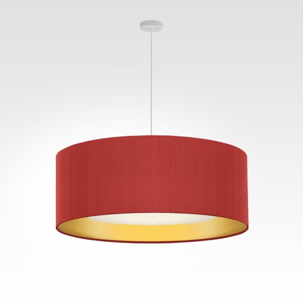 living room light gold diameter 60 cm red