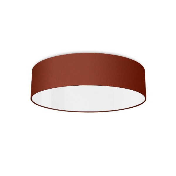 Ceiling luminaire rouille rouge
