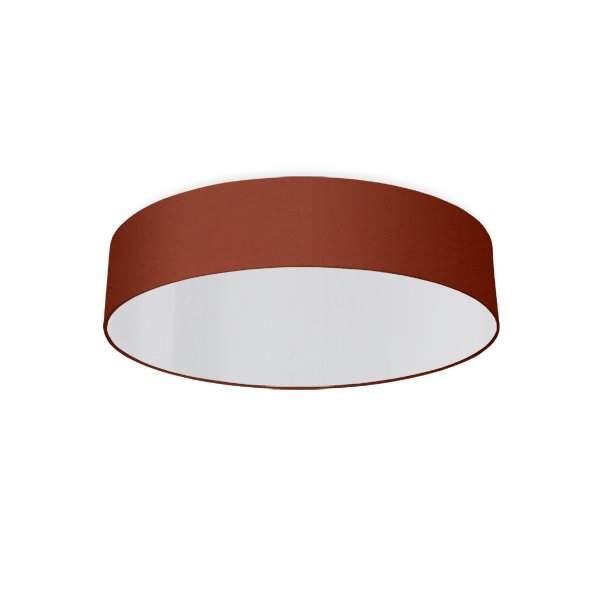 round ceiling light living room rouille rouge