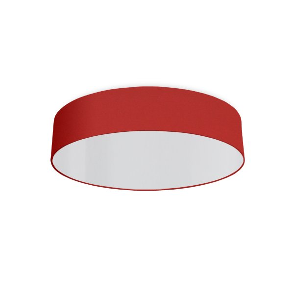 round ceiling light living room red