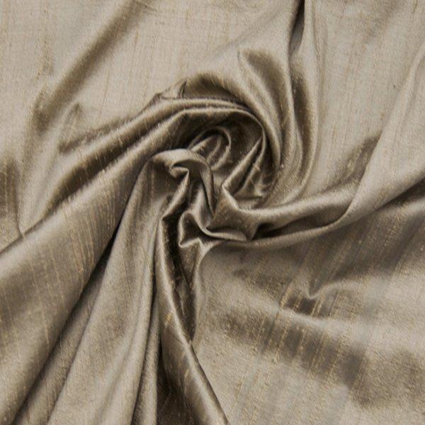 Dupionseide beige grau für bekleidung und dekoration lucere