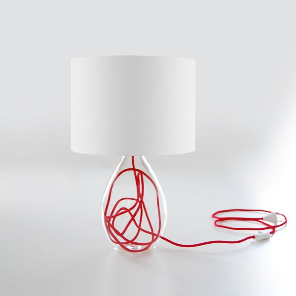 lampes de table rouge blanc